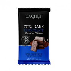 "Шоколад ""Cachet"" 70% dark (чёрный) 300г"