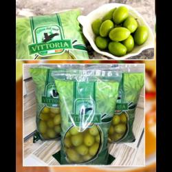 """Оливки """"Vittoria"""" зелёные  с косточкой 850г"""